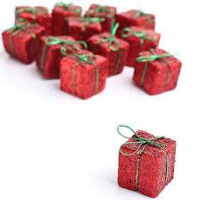 miniature glitter gift boxes ornaments