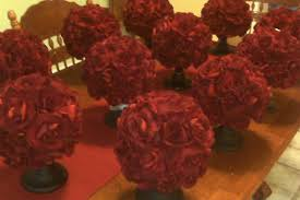 Red Roses Centerpieces Red Rose Pomander Centerpieces Weddingbee Photo Gallery