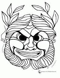 greek masks coloring 3 231x300 greek masks printables