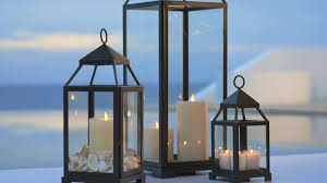 summer outdoor decor with lanterns pottery barn decorated garden