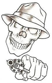 easy drawings beginners prison stick skull design