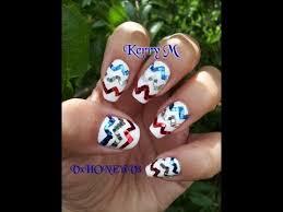 4th of july nails chevron nail art patriotic nail designs