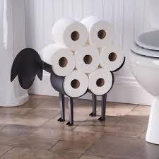 Bathroom Tissue Storage Sheep Decorative Toilet Paper Holder Free Standing Bathroom