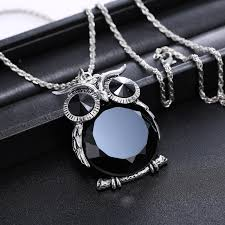long chain crystal necklace images Long chain necklace for girl big black rhinestone necklaces cute jpg
