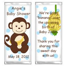 monkey boy baby shower decorations boy monkey candy bar wrappers baby shower wrappers