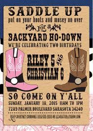 printable backyard ho down party invitations printable western