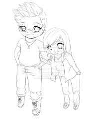 14 images of cute anime drawings emo couple coloring pages anime