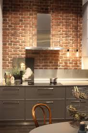 faux brick kitchen backsplash 34 faux brick backsplash in kitchen kitchen ideas