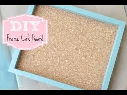 Cork Board Decorative Frame Diy Frame Cork Board For Home Or Office Youtube