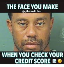 Credit Meme - the face you make when you check your credit score meme on me me