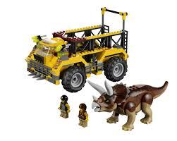 jurassic park car lego amazon com lego dino triceratops trapper 5885 toys u0026 games