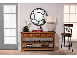 Hallway Table With Drawers Hillsdale Furniture Living Room Tuscan Retreat Wine Rack Hall
