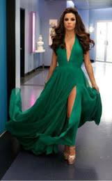 discount emerald green chiffon formal dress 2017 emerald green