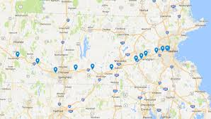 mass pike exits map where are the gantries located along the mass pike how much will