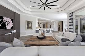 contemporary livingroom contemporary living room with ceiling fan high ceiling in boca