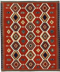 Rugs With Red Accents Tribal Design Tomato Red With Multi Colored Accents Area Rug