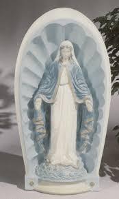 madonna statue lawn ornament blessed in niche grotto