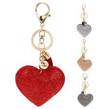 love key rings images Pendant romantic leather keychain love heart bag keychain girls jpg