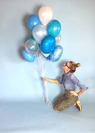balloon delivery mn big blue balloon bouquet confetti balloons
