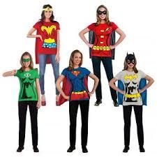 female superhero costumes t shirt halloween fancy dress