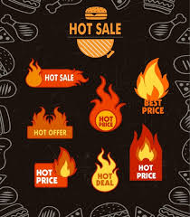 sale banner fast food icons ornament free vector in adobe