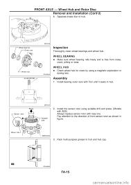 nissan murano wheel bearing replacement brake rotor nissan patrol 1998 y61 5 g front suspension workshop