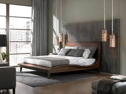 interesting image of flare white shades nickel swing arm light in stunning decorating ideas using rectangular brown wooden headboard beds in white mattress covers also with grey