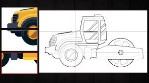 puzzle game cars for kids play and make amazing road roller