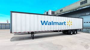 semi trailer truck the walmart semi trailer for american truck simulator