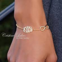 initials bracelet infinity bracelet of anklet with monogram initials in sterling