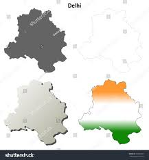 Blank Map Of Delhi by Delhi Blank Detailed Outline Map Set Stock Vector 218923273