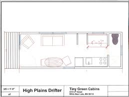 Tiny House Floor Plans by High Plains Drifter Floor Plan Tiny Green Cabins