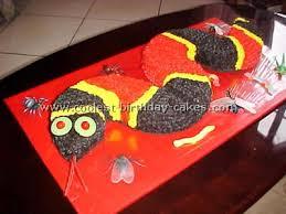 coolest snake birthday cake decorating idea