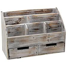 Distressed Office Desk Vintage Rustic Wooden Office Desk Organizer Mail