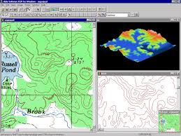 How To Draw A Topographic Map R2v Raster To Vector Conversion Gis Mapping Cad