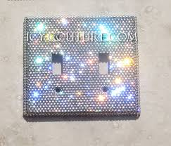 clear light switch cover crystal clear swarovski luxury double light switch plate cover
