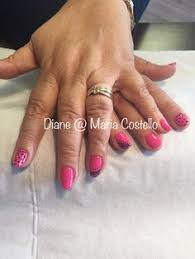 cnd shellac on natural nails with free hand nail art done by me