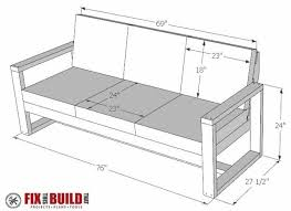 How To Build A DIY Modern Outdoor Sofa FixThisBuildThat - Modern outdoor sofa