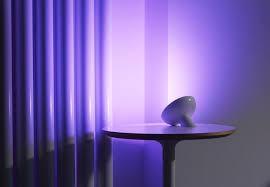 philips hue bloom lamp on wall