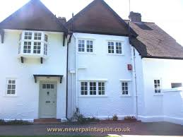 Painted Houses Spray Painting Wall Coatings On A Property In Gloucester Never