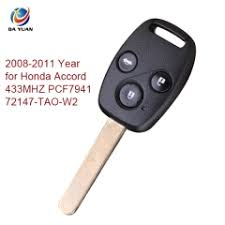 2008 honda accord key ak003060 2008 2011 honda accord 3 button remote key 433mhz 7941