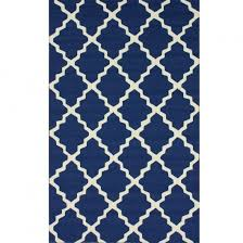 Navy And White Outdoor Rug Shop Navy Blue Outdoor Trellis Outdoor Rug 4ft X 6ft Nuloom