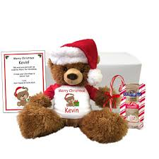 personalized christmas gifts personalized christmas teddy bear gift set 14 brown tummy bear