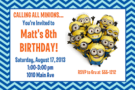 How To Make Invitation Cards For Birthday Minion Birthday Party Invitation Printable 4x6 Or 5x7