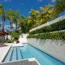 Pool Chairs Backyard Designs With Pool Pool Contemporary With Fence Plants