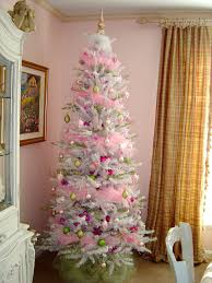 pinktmas tree lights with white cord ornaments for