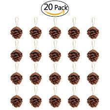 nicexmas 20pcs 4 6cm pine cones pendant with