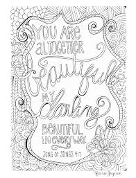 you are altogether beautiful coloring page words words