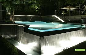 invisible edge pool infinity swimming pool designs raised black