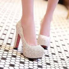 wedding shoes pumps 2017 new brand high heels glitter wedding shoes pumps fashion